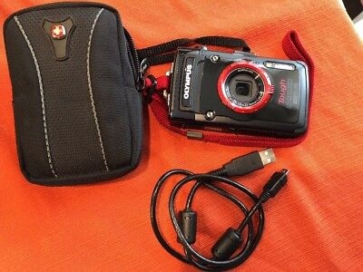 Olympus Tough TG-2 iHS 12.0MP Digital Camera - Waterproof, Includes Case & Cable