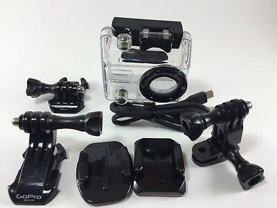 Gopro HD Hero 2 1 Waterproof Protective Housing Case Grab and Go Bag USB Cable