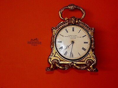 Antique Pendule D, Officer French Paris Gilt Carriage Clock ....sold For Charity