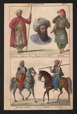 1830 - Saudi Arabia Yemen Asia Islam natives costumes Lithograph