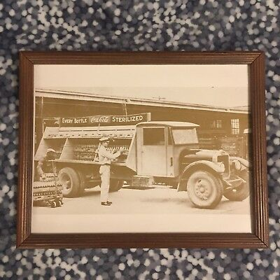 Vintage framed Coca-Cola Panel Delivery Truck Delivery Man Photograph Print gift
