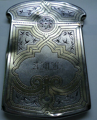 """Sterling Silver """"Calling Card"""" Case"""