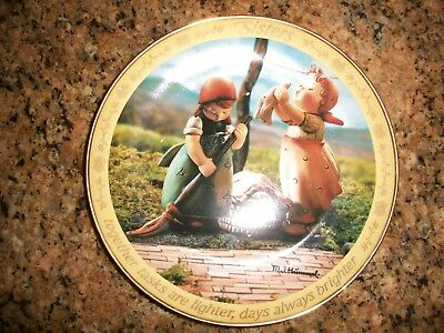 "M I Hummel Sisters Plate  ""Together, Days Are Always Brighter"""