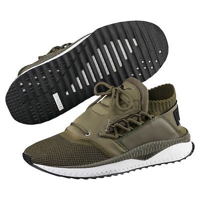 Men's Puma Tsugi Shinsei Olive green  Evoknit Trainers Running Knit Multi sizes