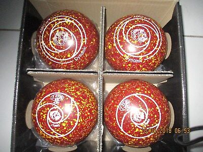 Aero Bowls Dynamic 4.5H Brown with yellow and red specles