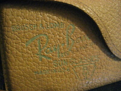 Original Vintage Ray-Ban Sunglasses Leather Case Only Hot Stamped Bausch & Lomb
