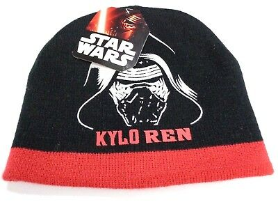 ddc85e26e08f3 Star Wars Kylo Ren Knit Cap Black Red Winter Kids Beanie Hat NEW Disney