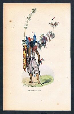 1840 - Solor Indonesien Indonesia Asien Asia costumes Trachten antique print