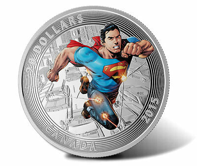 2015 Royal Canadian Mint $20 Fine Silver Superman Action Comics #1 Cover Coin