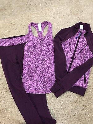 Ivivva Matching Jacket, Tank and Leggings (size 4)