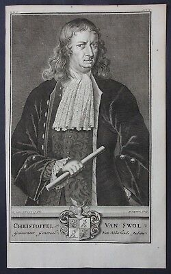 1726 Christoffel van Swoll Governor East Indies Portrait engraving Valentijn