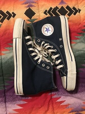 Vintage 1990s Navy Blue Converse made in USA Sz 8.5 Clean Nike