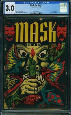 Mask Comics #1 Lb Cole Extremely Rare Cgc 3.5 Unrestored