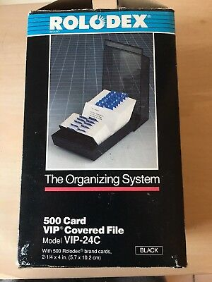 Rolodex 500 Card VIP Covered File Model VIP-24C The Organizing System NEW