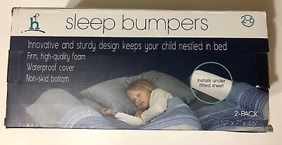 2-Pack Hiccapop Foam Bed Bumpers Toddler Rails Water-resistant Cover For Kids