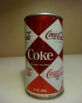 "Vintage ""1960's"" Coca Cola Coke Pop Top Can Diamond Shape"