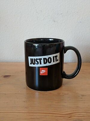 "VTG 1990s Nike ""Just Do It"" Coffee Mug Black Promo Advertisement Jordan"