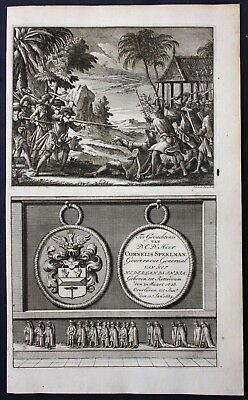 1726 Cornelis Speelman Governor East Indies Portrait engraving Valentijn medal