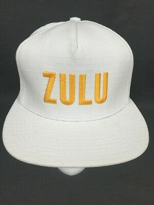 3ea0872ab95 SUPREME ZULU 5 Panel Hat Cap White Yellow Embroidered SS2016 ...