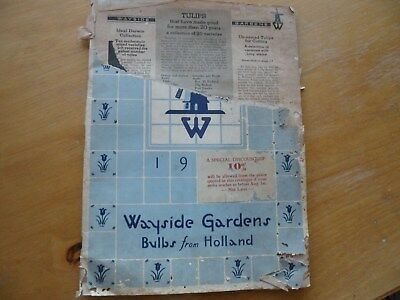 Wayside Gardens catalog bulbs from Holland 1936