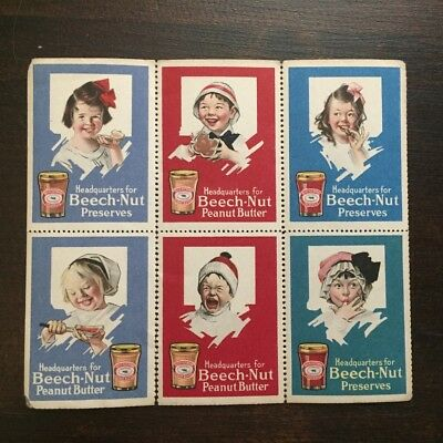 Vtg Beech-Nut Cinderella Stamps Preserves Peanut Butter Advertising Collectible