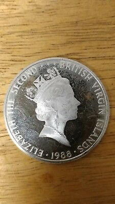 British Virgin Islands Twenty Dollar 1988 coin UNC  Elizabeth The Second