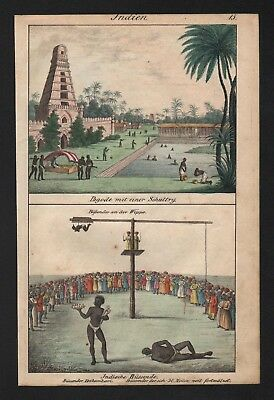 1830 - India Pagode Yogi Hindu Hinduism natives costumes Lithograph