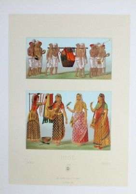 1880 - Beerdigung Begräbnis funeral women Indien India Lithographie lithograph