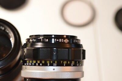 Vintage Nikon Camera Lens, Rare 1:1.8 f=85mm, Absolutely MINT!!!, No Reserve!!!!