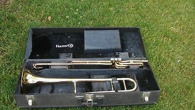 Holton Valve Trombone Holton Case  Cleaned , Disinfected, Good Vales And Slides