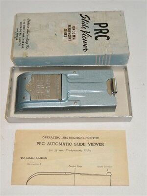 Vintage PRC 35mm Slide Viewer Box & Instructions