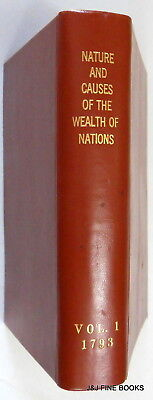 1793 The Wealth Of Nations, Adam Smith, Ornate Leather, First Expanded, Dublin