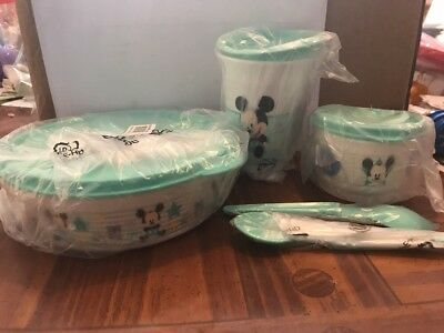 New Tupperware Disney Baby Mickey Mouse Feeding Set