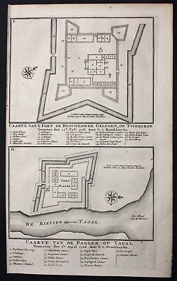 1726 Java Tegal Cirebon map engraving fort Valentijn Asia Indonesia carte
