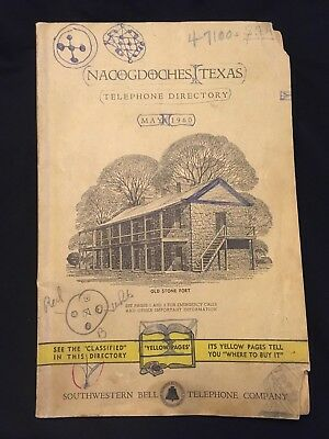 Vintage 1960 Nacogdoches Texas Telephone Directory