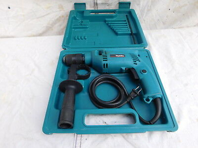 Makita HP1501 Hammer drill 5 amps case, handle, nice