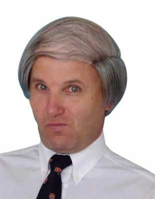 Men's Comb Over Costume Wig Grey Old Man Fancy Dress Accessory