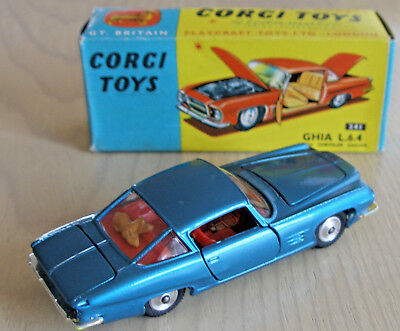 CORGI TOYS MODEL No. 241 - GHIA L.6.4 with a Chrysler Engine in Original Box