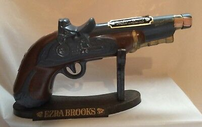 Ezra Brooks Pistol Decanter with Display Base