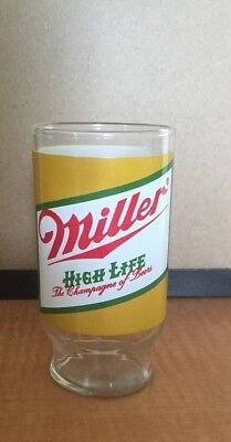"Vintage Miller High Life ""the Champagne Of Beers"" Glass"
