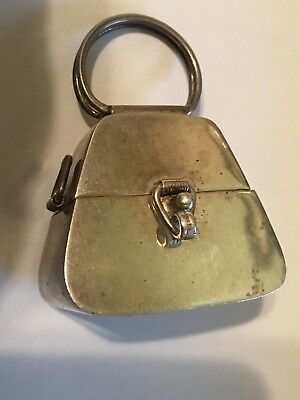 Vintage Miniature Sterling Silver Purse/Pill box