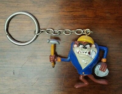 Fun Collectible! Tasmanian Devil Construction Worker Keychain from Warner Bros