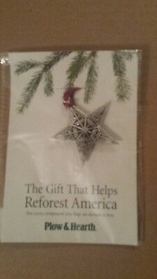 Plow and Hearth Pewter Ornament-STAR