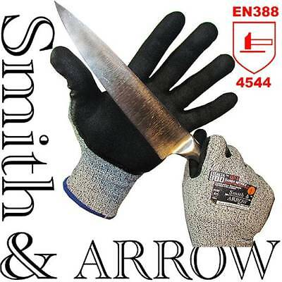 Cut Resistant Level 5 Safety Work Gloves Nitrile Kitchen Metal Proof Anti Hppe
