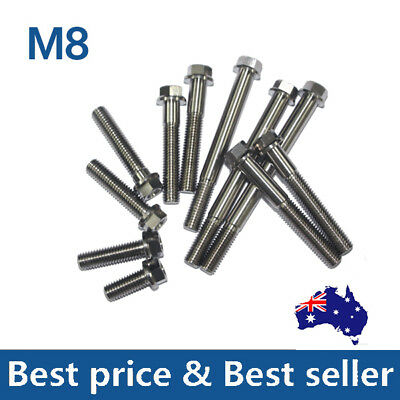 M8 Titanium Flange Hex Head Bolt Cap Screw 20 30 35 40 45 50 55 60 75 85 90mm AU
