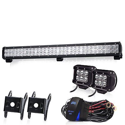 32 inch 180W LED Light Bar Combo Beam Work For Truck Boat SUV 4WD Fog Jeep