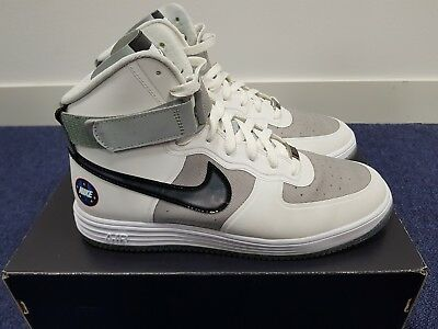 huge selection of 09832 0845c ... new style nike lunar force 1 hi wow qs uk size 8 white 3m reflective  mint