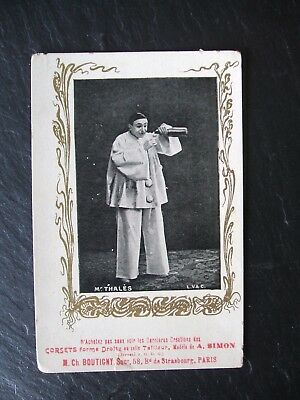 R/P French CORSET Advertising Card - Pierrot - Undivided back