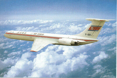 Airplane Postcard: Air Koryo IL-62M P-881 Airline Issue NEW