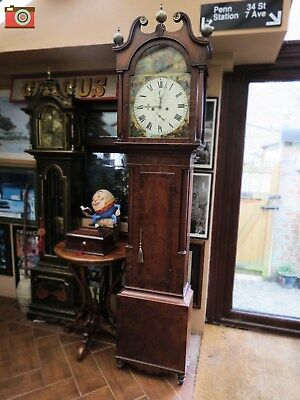 A LONGCASE CLOCK, 8 DAY, CIRCA 1850, J. McCALLUM - FALKIRK. GREAT COLOUR.